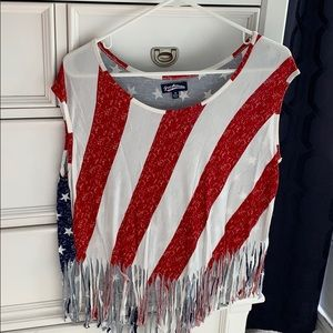 Tops - Flag Fringe Top